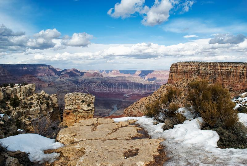 Grand Canyon Grandview Punkt lizenzfreies stockbild