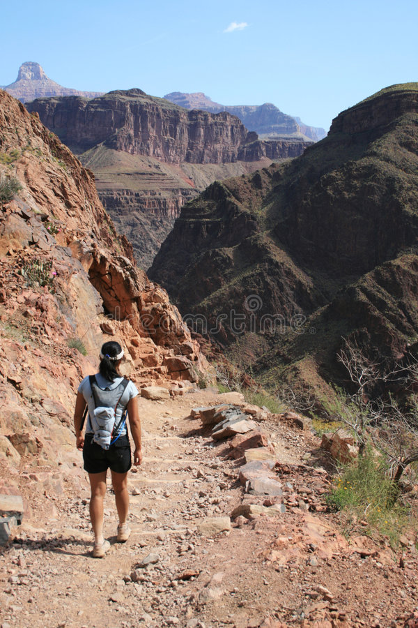 Grand Canyon hike royalty free stock image