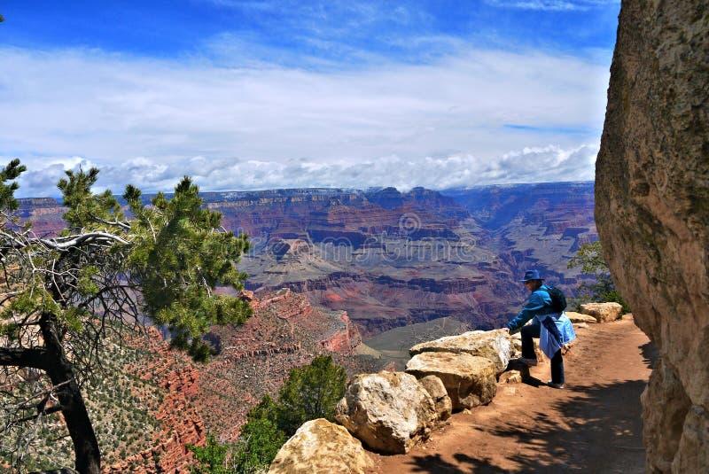 Download Grand Canyon Hiker stock image. Image of senior, canyon - 27647631