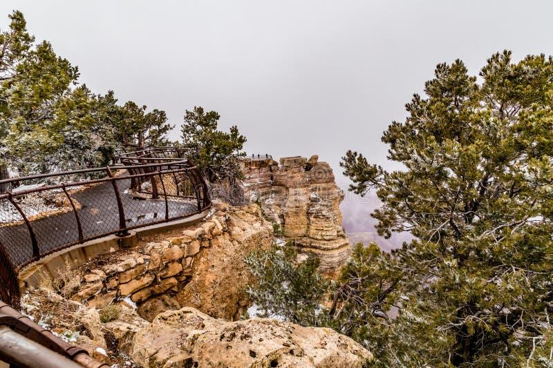 Grand Canyon i snö royaltyfria foton