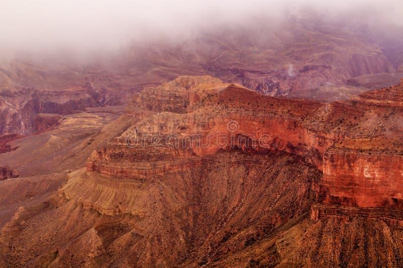Grand Canyon i snö royaltyfri foto