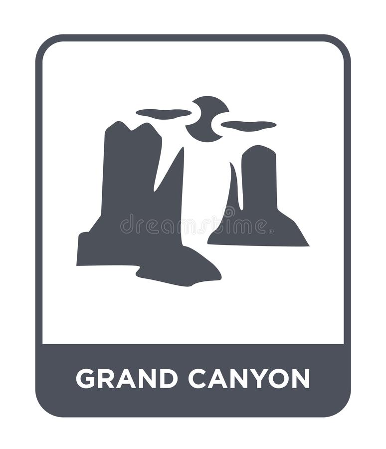 grand canyon icon in trendy design style. grand canyon icon isolated on white background. grand canyon vector icon simple and stock illustration
