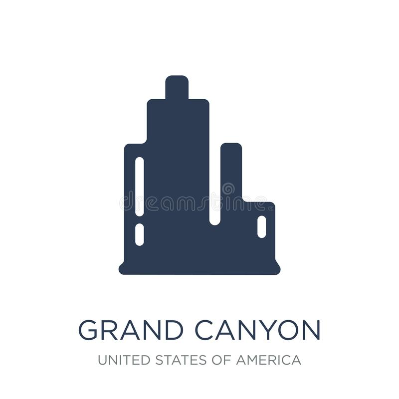 Grand canyon icon. Trendy flat vector Grand canyon icon on white vector illustration