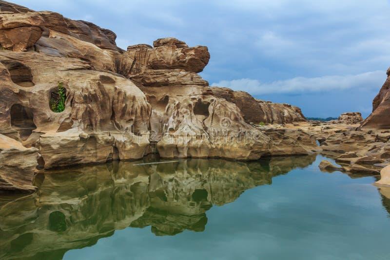 Grand Canyon im Mekong, ubonratchathani, Thailand lizenzfreies stockbild