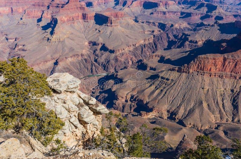 Grand Canyon irregolare Rim Landscape del sud fotografie stock libere da diritti