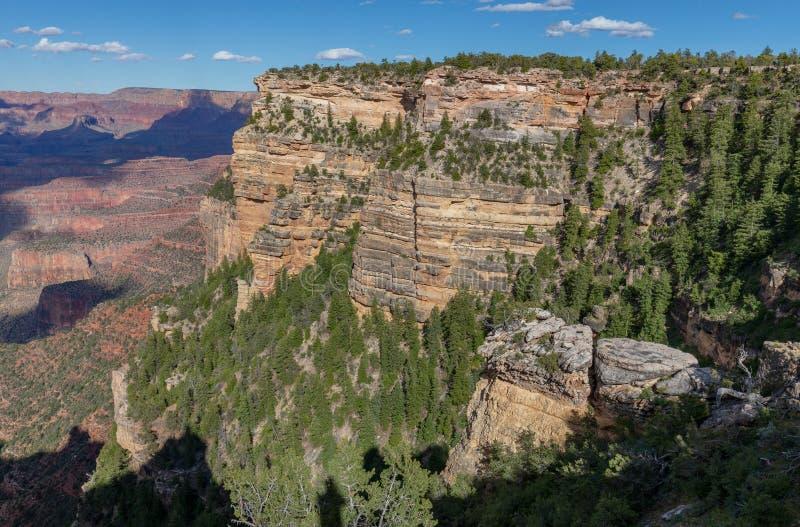 Grand Canyon irregolare Rim Landscape del sud fotografia stock