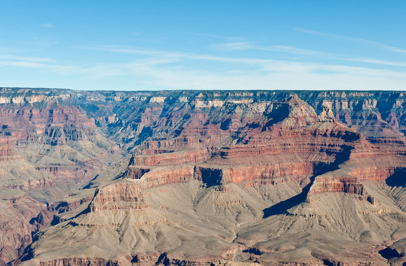 Grand Canyon landscape. Scenic view of landscape of Grand Canyon viewed from southern rim, Arizona, U.S.A stock images