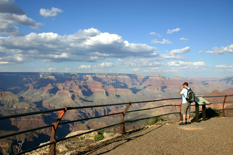 Download Grand Canyon - Lone Hiker stock image. Image of danger - 1395119