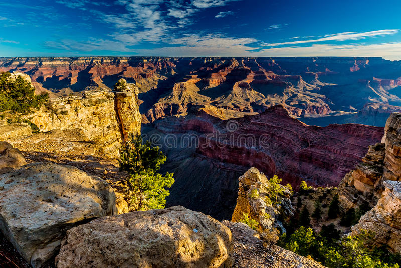 Grand Canyon magnífico no Arizona fotografia de stock