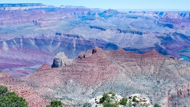 Grand Canyon Mountain and Desert Landscape, America stock image