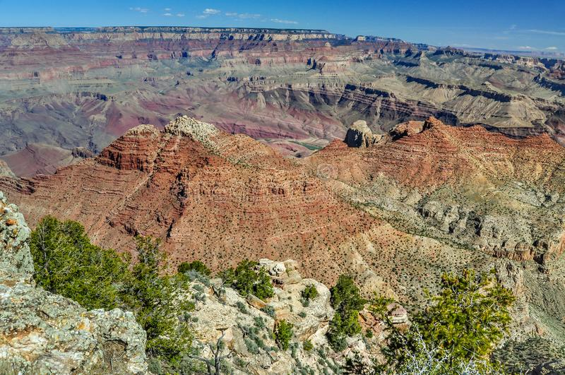 A Grand Canyon National Park Panoramic in the Desert of Arizona stock image