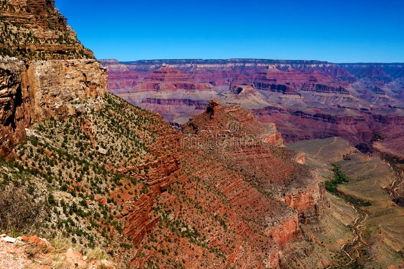 Grand Canyon National Park seen from Desert View royalty free stock photo