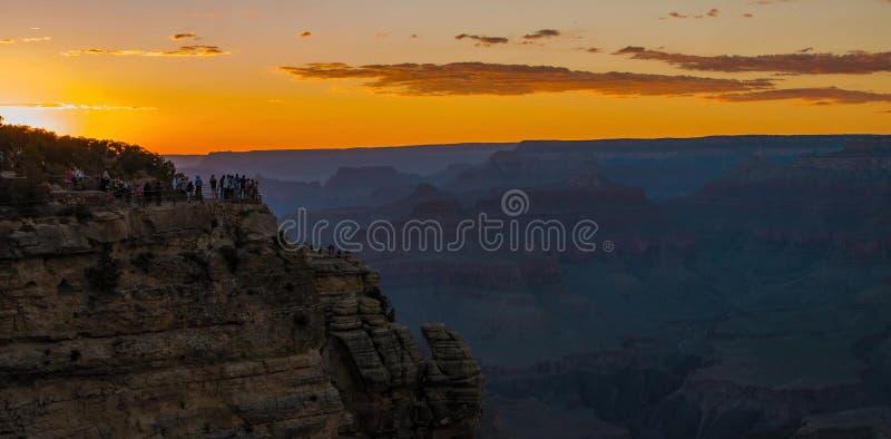 Grand Canyon nationalpark från Mather Point i Förenta staterna royaltyfri bild