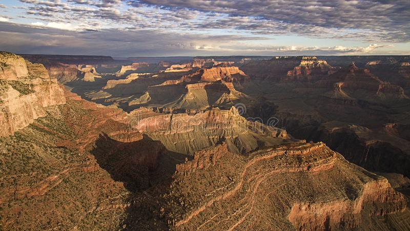 Grand Canyon nationalpark, i Arizona från surret royaltyfri foto
