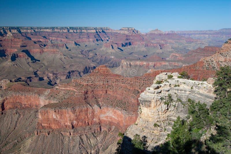 Grand Canyon nationalpark, södra kant på sommareftermiddag royaltyfria bilder