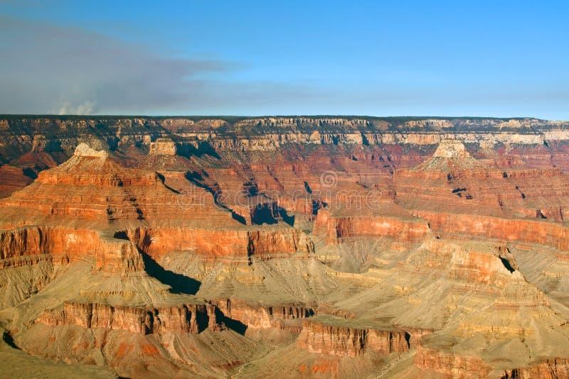 Grand Canyon nationalparkbrand arkivbilder