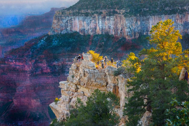 Grand Canyon North Rim Viewing stock photography
