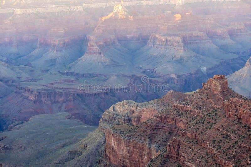 Grand Canyon NP przy zmierzchem, Arizona zdjęcia stock