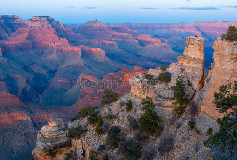 Grand Canyon NP am Sonnenuntergang lizenzfreies stockfoto