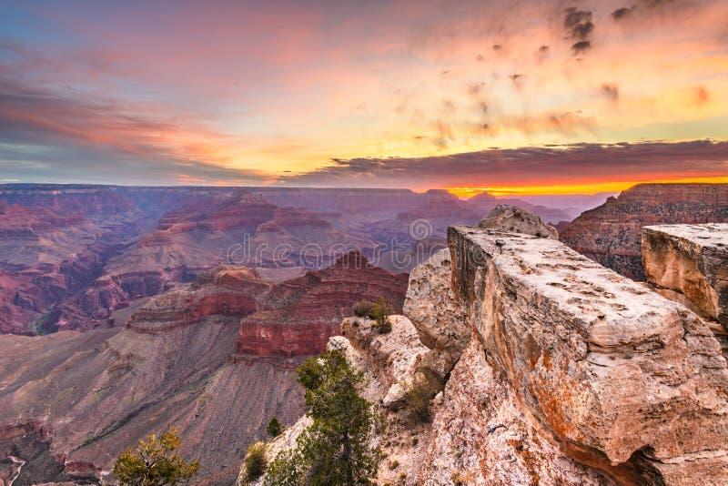 Grand Canyon, o Arizona, EUA da borda sul imagens de stock