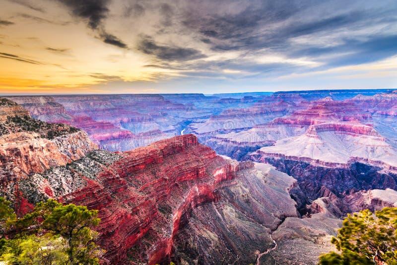 Grand Canyon, o Arizona, EUA da borda sul fotografia de stock royalty free