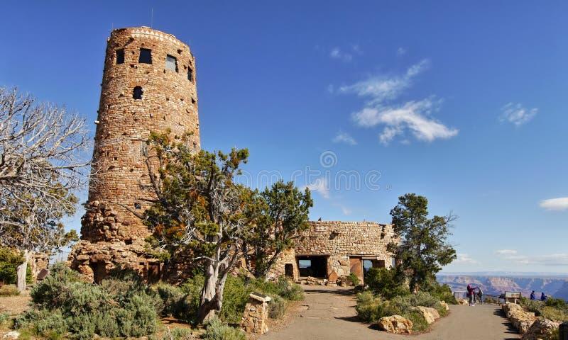 GRAND CANYON, o ARIZONA - torre de vigia da opinião do deserto foto de stock