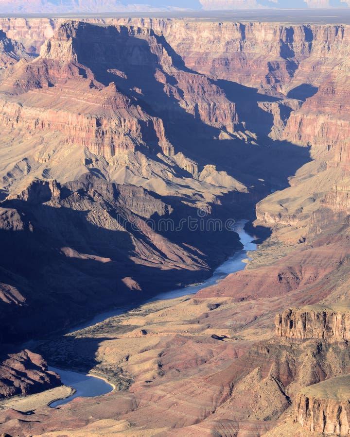 Grand Canyon o Rio Colorado imagens de stock royalty free