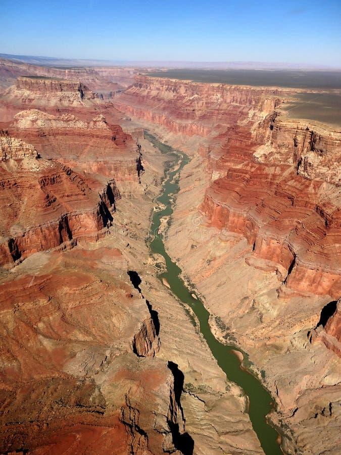 Grand Canyon och Coloradofloden arkivfoton
