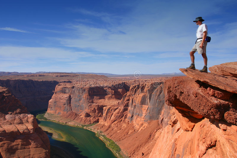 Grand Canyon overlook royalty free stock images