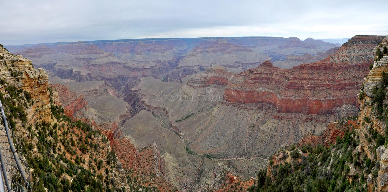 Grand canyon panorama royalty free stock images