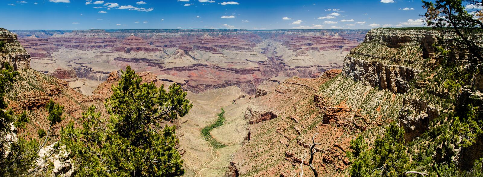 Grand Canyon Panorama, El Tovar Overlook Stock Photo ...