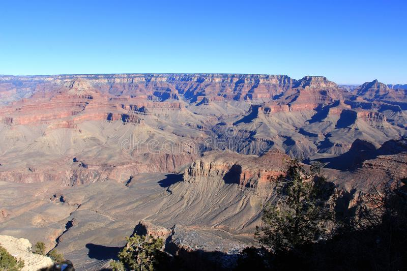 Grand Canyon Panorama In A Sunset View Stock Photo - Image ...