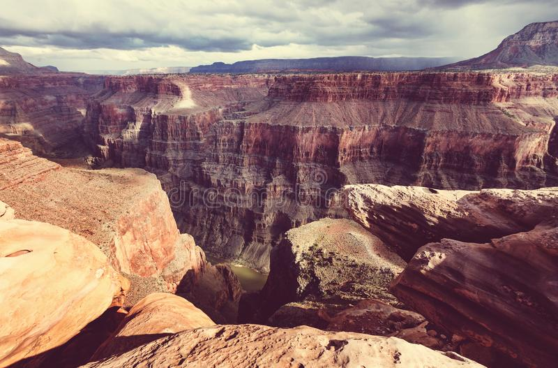 Grand Canyon. Picturesque landscapes of the Grand Canyon, Arizona, USA royalty free stock photo