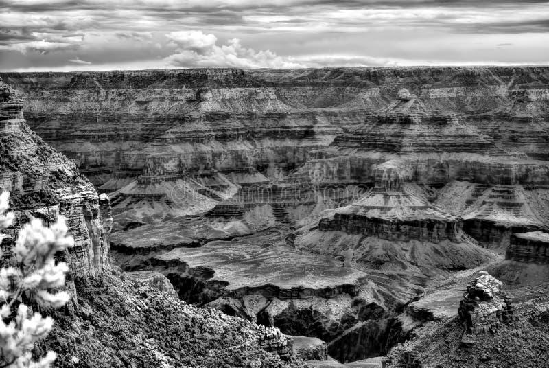 Grand Canyon preto e branco infravermelho o Arizona foto de stock