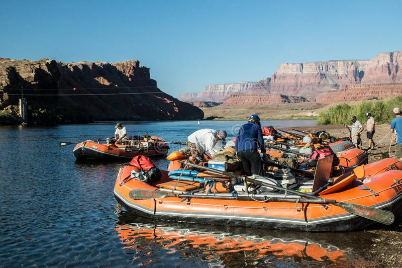 Grand Canyon Rafting bij Lee ` s Veerboot royalty-vrije stock fotografie