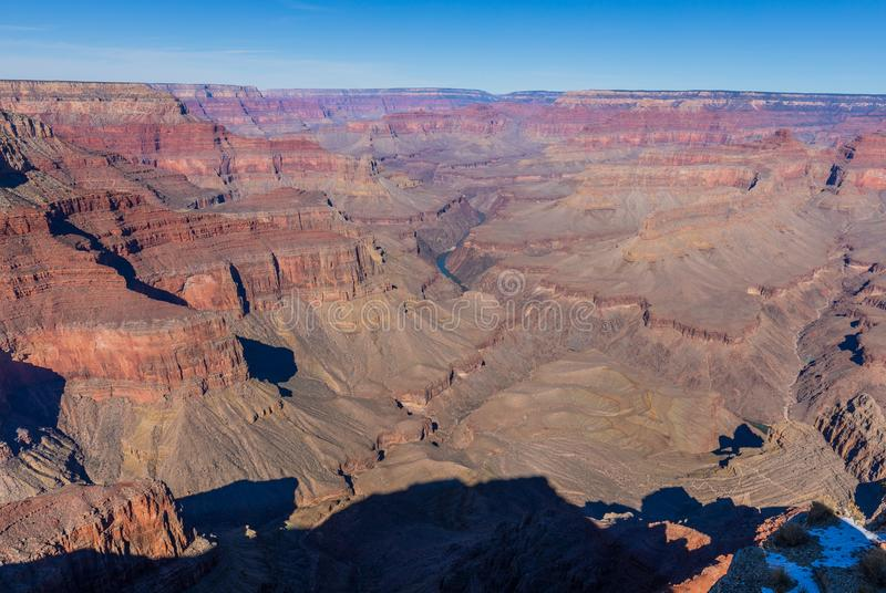 Grand Canyon Rim Rugged Scenic del sud fotografie stock