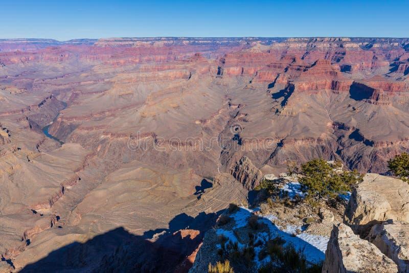 Grand Canyon Rim Rugged Scenic Landscape del sud immagini stock libere da diritti