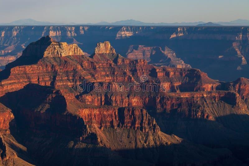 Grand Canyon Rim Sunset Landscape del nord fotografia stock libera da diritti