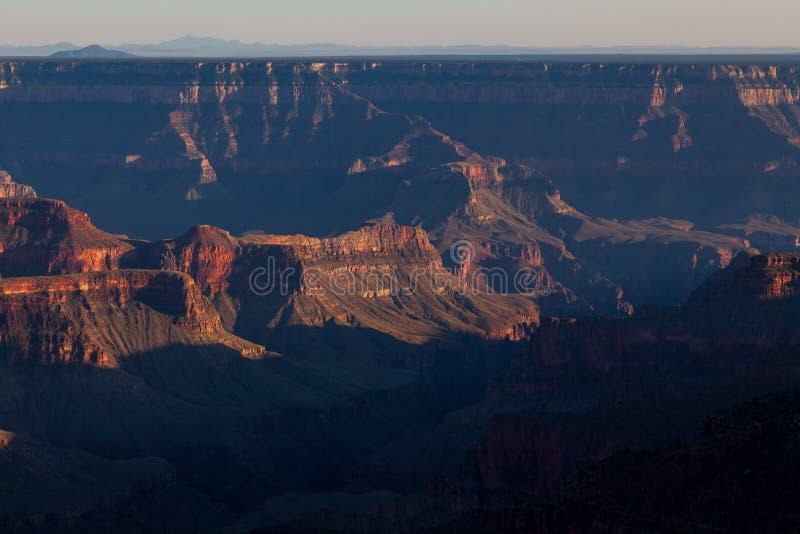 Grand Canyon Rim Sunset Scenic del nord fotografia stock