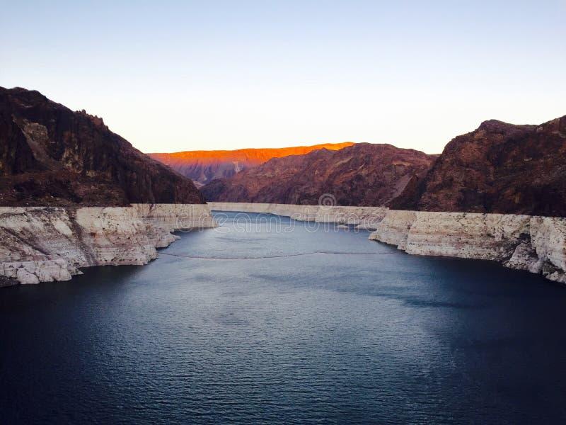 Grand Canyon -Rivierpanorama royalty-vrije stock afbeelding