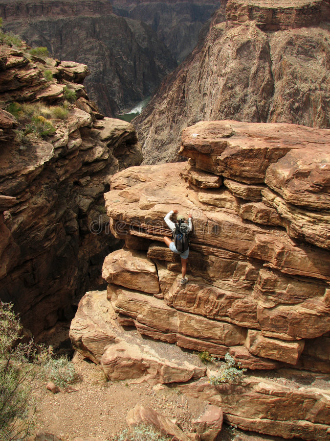 Download Grand Canyon scramble stock photo. Image of gorge, healthy - 2364762