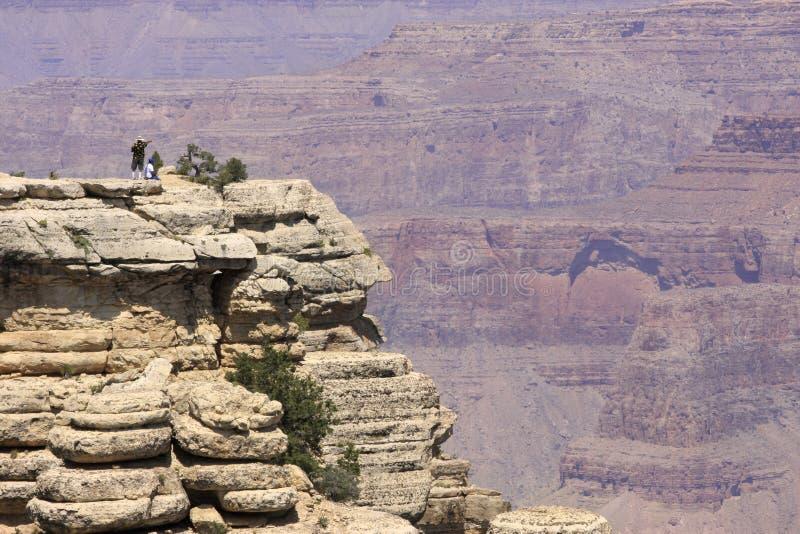 Grand Canyon sikt från den södra kanten, Mather Point royaltyfria bilder
