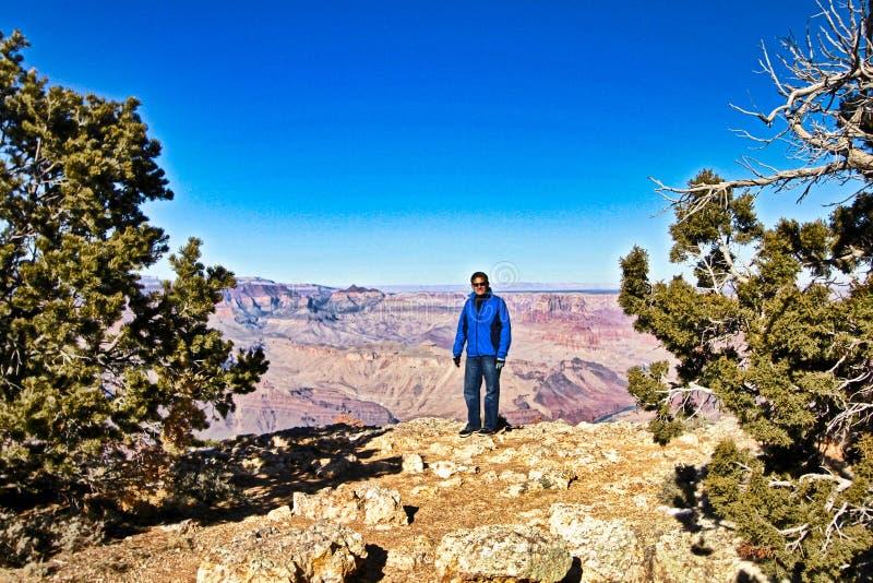 Grand Canyon siktsbesökare royaltyfri foto