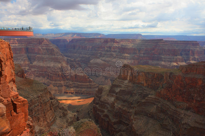 Grand canyon skywalk. Skywalk on the grand canyon royalty free stock images