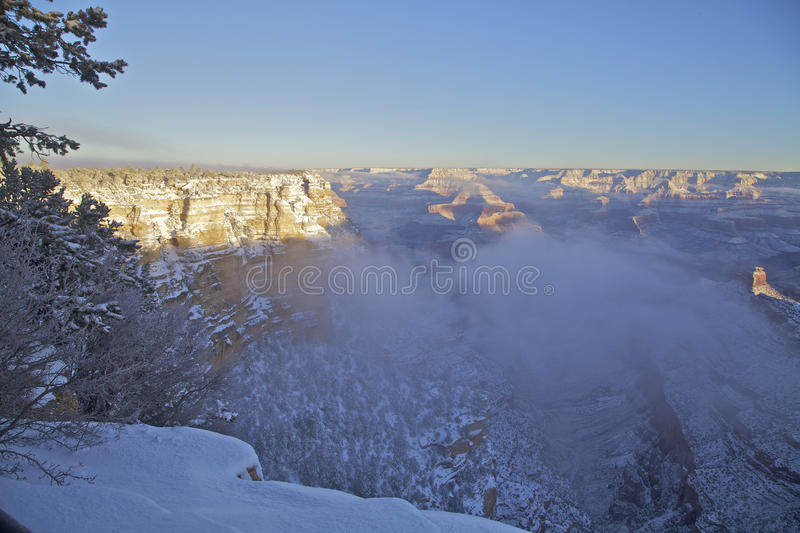 Grand Canyon Snowstorm Royalty Free Stock Images