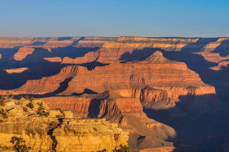 Grand Canyon -Sonnenaufgang von Mather Point stockfotos