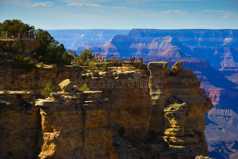 Grand Canyon South Rim Tourist Area Stock Photo