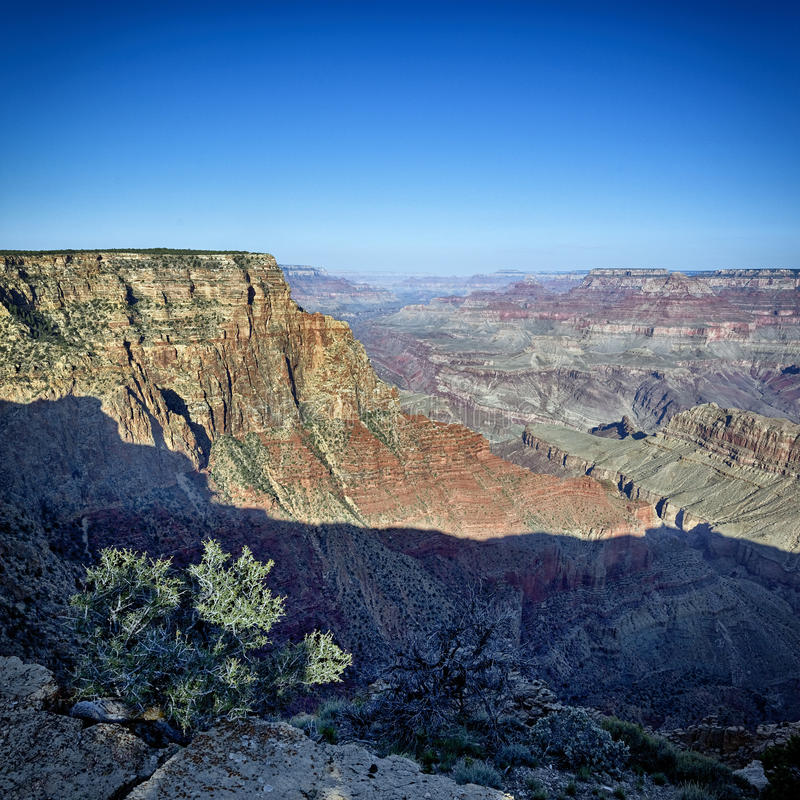 Grand Canyon square. View of famous Grand Canyon, Arizona, USA stock photos