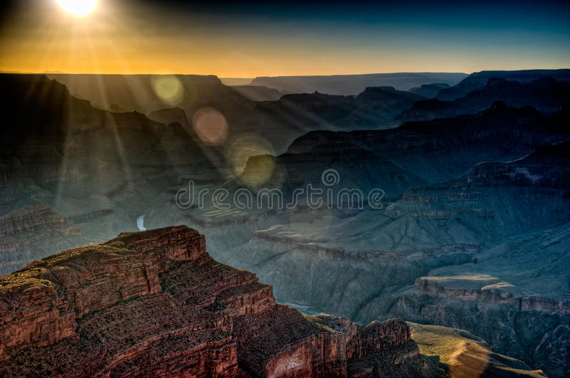 Download Grand Canyon Sunset stock image. Image of nature, attraction - 15349945
