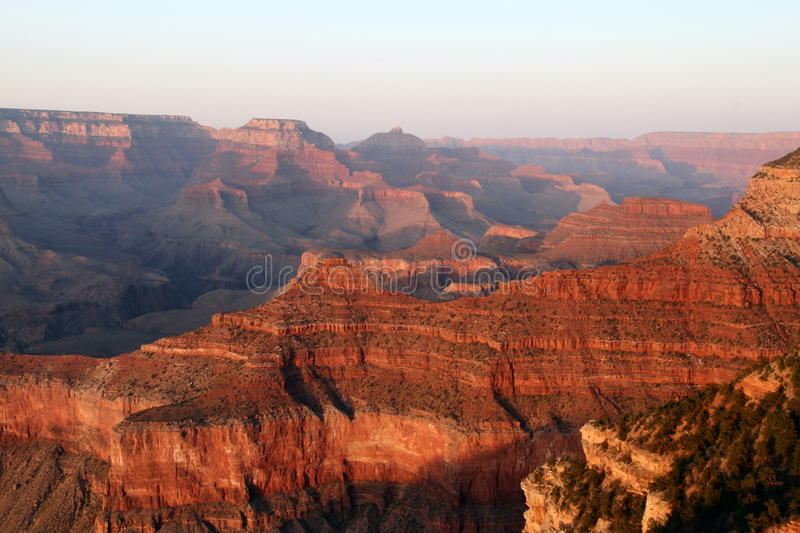 Grand Canyon Sunset. The grand canyon in Arizona, USA. Taken from the South Rim of the canyon royalty free stock photo